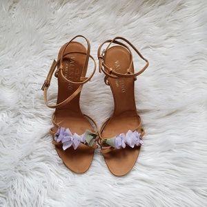 Shoes - Vintage Valentino Garavani Lavender Flower Heel